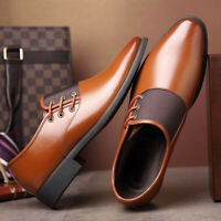 Men's Casual Oxfords Leather Shoes Pointed Toe Business Dress Formal Office