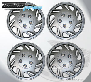 "Pop-On Wheel Rims Skin Cover 15"" Inch Silver Hubcap 15 Inches #126 Qty 4pc"