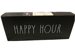 Rae Dunn Double Sided Black Wooden Sign Bar Office Happy Hour Im In A Meeting