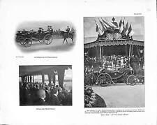 REVUE MILITAIRE FRANCE  TSAR NICHOLAS II RUSSIE RUSSIA ANTIQUE PRINT 1901