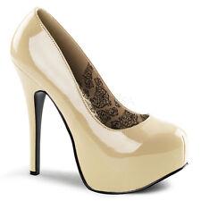 Pleaser Teeze-06 Bordello Shoes Platform Stilettos High Heels Burlesque Courts