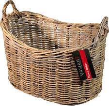 Dassels - Scoop Top Rattan Wicker Basket - For Logs, Magazines, Clothes - FIR225