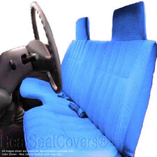 A27 Triple Stitched 10mm Thick Blue Bench Seat Cover Large Notched Cushion