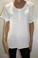 Beme Brand White Wonderland Short Sleeve Blouse Top Size 14 BNWT #SF41