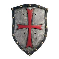 Templar Cross Shield Adult Costume Accessory Medieval Knight Realistic Black