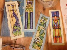 (C) Rennie Mackintosh Art Nouveau Bookmarks Cards Peacock Cross Stitch Chart