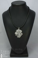Tosa Inu silver covered necklace, high quality keychain Art Dog
