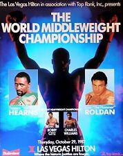 Thomas Hearns vs. Juan Roldan: Original Vintage en el sitio de Boxeo Lucha Cartel