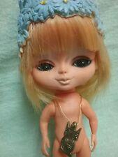 "KAMAR doll Big Eyes pre BLYTHE 9.5"" pet smoke free home  1960s JAPAN 1968 1969"