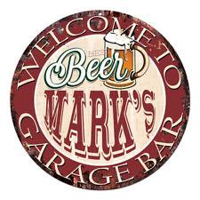 Cpbg-0014 Beer Mark'S Garage Bar Chic Tin Sign Man Cave Decor Gift Ideas