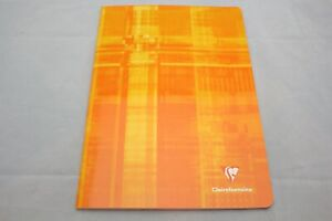 """Clairefontaine Staplebound Notebook  6 1/2"""" X 8 1/4"""" French Ruled Orange"""