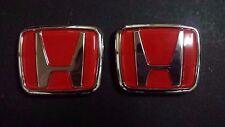 New Civic Integra Type R DC2 EK9 Front + Rear H Emblem Red EG EF CD5 S2A DC1 DB8