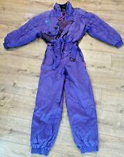 vtg purple retro skisuit/snowsuit Luhta M/38 (UK12) apres-ski/festival/party