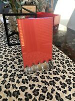 Near FLAWLESS In BOX BACCARAT VEGA Crystal PICTURE FRAME HOLDER STAND never used