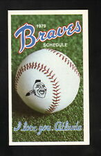 Atlanta Braves--1979 Pocket Schedule--Beech-Nut