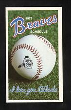 Atlanta Braves--1979 Pocket Schedule--Beech-Nut