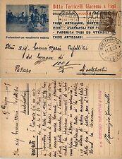 REGNO-40c(84) Cartolina pubblicitaria Ditta Torricelli-Mantova 10.6.1925