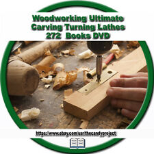 Woodworking Woodturning Carpentry Carving Carpenter Joinery 272 Books Dvd