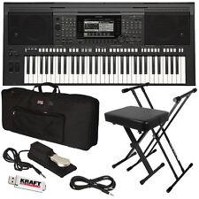 Yamaha PSR-S770 Arranger Workstation Keyboard STAGE ESSENTIALS BUNDLE