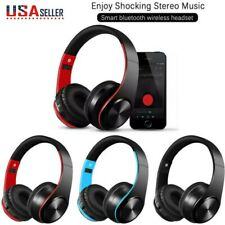 Wireless Gaming Headset Headphones Foldable Over Ear Stereo Bass For PC Laptop