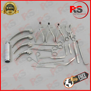 29 Pcs Set Of Ent Surgical Veterinary Diagnostic Surgery Instruments