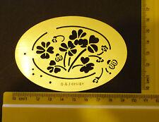 BRASS / Stencil / Oval / fiore / Infisso / Coccinella / primavera / estate / sbalzo