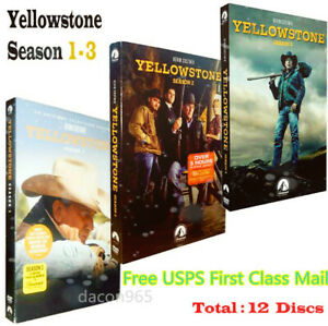 Yellowstone Season 1 & 2 & 3 1-3 (DVD ,12-Disc) NEW FREE SHIPPING US SELLR