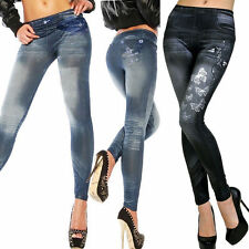 Sexy Women Skinny Jeggings Stretchy Slim Leggings Fashion Skinny Pants Blue NEW