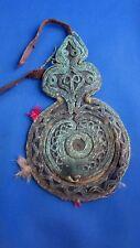 ancien miroir touareg sud algerien brodé algerie orientaliste glace