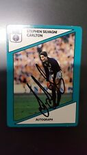 1988 Scanlens Stimorol Carlton STEPHEN SILVAGNI HAND SIGNED ROOKIE CARD EXC CON