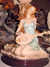 "DEAR ""Woman Playing Mandola"" Sculpture by A. Belcari"