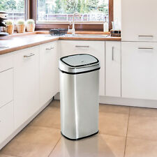 HOMCOM Sensor Bin 68L Automatic Kitchen Waste Dust Touchless Stainless Steel