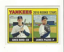 2016 Topps Heritage #171 James Pazos/Greg Bird RC Rookie Yankees