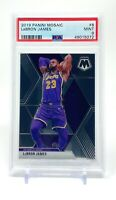 LeBron James 2019-20 Panini Mosaic #8 PSA 9 Mint Los Angeles Lakers