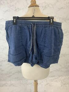 J Crew Women's Blue Seaside short in stripe AJ651 Size Large