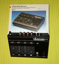 4-Kanal-Audio-Mischpult, Vivanco MX510