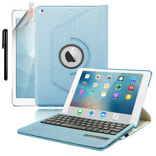 360 Rotating Leather Case WITH Bluetooth Keyboard For 2017 iPad 9.7 A1822/1823