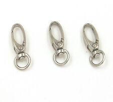 10 Metal Swivel Lanyard Hook Snap Lobster Clip Clasp Lanyard Chain Holder 37x9mm