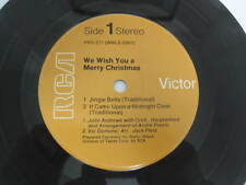 WE WISH YOU A MERRY CHRISTMAS Jingle Bells JOY TO THE WORLD - RCA RECORD 45 NM