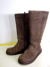 EUC! Ugg Australia Boots suede leather sheepskin zip up calf-height flat US sz 7