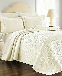 """Martha Stewart Collection COTTON Flowering Trellis QUEEN Bedspread 102x118"""" *NWT"""