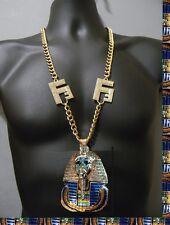 Egyptian Hip Hop Vector Chain Crystal Franco Iced Out Pharoah King Tut Crown