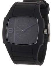 DIESEL NWT Quartz Analog,Black silicone strap,SS case,black dial,shows 9 hour