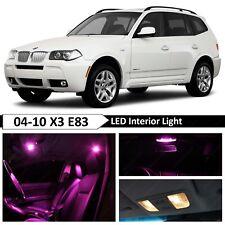 13 pcs Pink Error Free Interior LED Light Package Kit Fit 2004-2010 BMW X3 E83