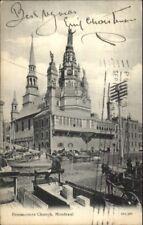 Montreal - Bonsecours Church & Street Scene c1910 Postcard