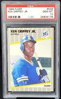 1989 Fleer HOF RC Mariners KEN GRIFFEY JR. Rookie Baseball Card PSA 10 GEM MINT