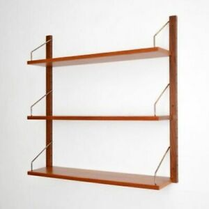 Mid Century Danish Modern Three Shelf Floating Wall Unit Cadovious Original Box