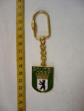 Schlüsselanhänger Polizei Berlin Metall wie das Armabzeichen in grün