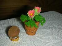 Blumentopf mit Dekor für die Puppenstube oder Blumenladen/Catrichen 1:12