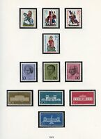 GERMANY 1970 YEAR COLLECTION MINT NH AS SHOWN ON SAFE HINGELESS ALBUM PAGES